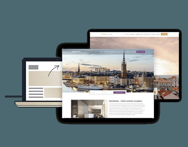 Stijlvolle Hotel Website Templates